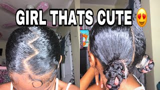 Super Cute And Easy Natural Hairstyle