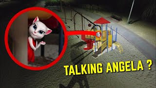 DRONE CATCHES TALKING ANGELA AT HAUNTED PARK!! (IT'S ACTUALLY HER)