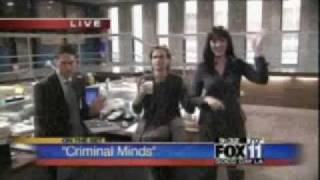 Criminal Minds - On the Set + Shemar and Kirsten kiss