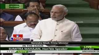 PM Modi Speech On Constitution  Lok Sabha Winter Sessions 2015  HMTV