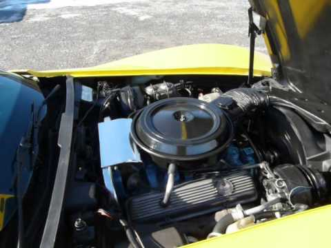 1977 Yellow L82 4spd Corvette T Top Video