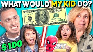 Parents Try Guessing What Their Kid Will Do With $100 | What Would My Kid Do? (LEGO, Starbucks)