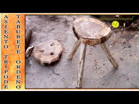 taburete o tripode casero, para el ordeño ( rustico ) stool or tripod home for milking (rustic)