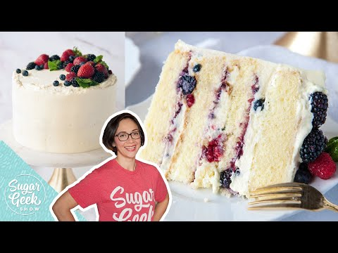Berry Chantilly Cake With Mascarpone Cream Cheese Frosting!