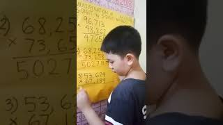 Multiplication of 5-DIGIT by 5-DIGIT Numbers by Human Calculator 8 YEAR OLD Joshua Thomas M. Soliman