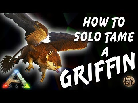 Download Solo Griffin Taming With A Trap Easiest Tame Ever Solo Ark
