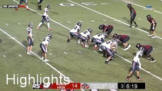 Highlights Pioneer vs Weiss Football Area Playoffs 2019