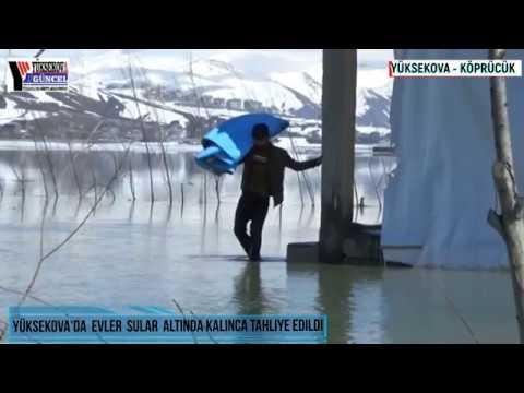Yüksekova'da Evler Sular Altında Kalınca Tahliye Edildi