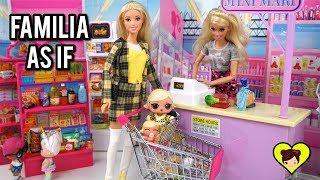 La Familia LOL Underwraps Compra en el Supermercado de Barbie - Videos de Familias LOL