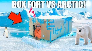 BOX FORT VS THE ARCTIC CHALLENGE!! 📦❄️