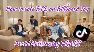 HOW TO VOTE BTS ON BILLBOARD USING TIKTOK   Top Social Artist 2020