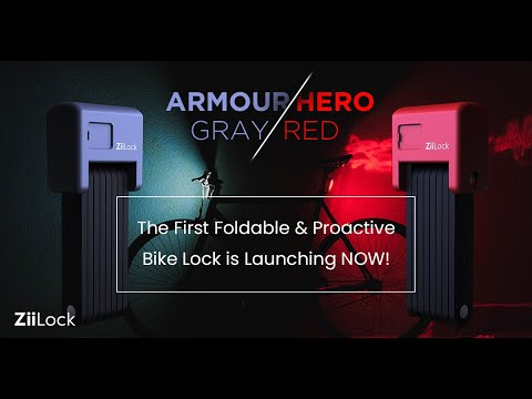 ZiiLock – The First Foldable & Proactive Bike Lock-GadgetAny