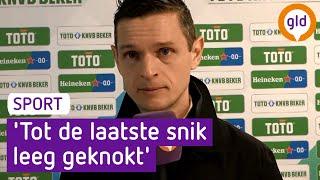 Rogier Meijer berust na uitschakeling: 'Tot de laatste snik leeg geknokt'