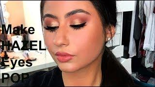 Make HAZEL Eyes POP! - Client Makeup Tutorial