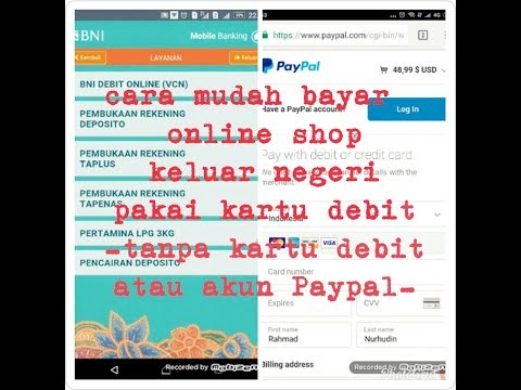 MUDAH!! Cara bayar online shop Luar Negeri pakai kartu Debit (VCN)