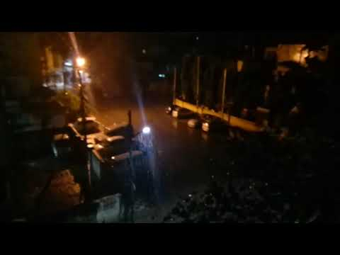 Heavy rain in Hyderabad at 3 am in morning 14sept2017. (видео)