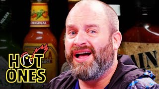 Tom Segura Tears Up While Eating Spicy Wings | Hot Ones