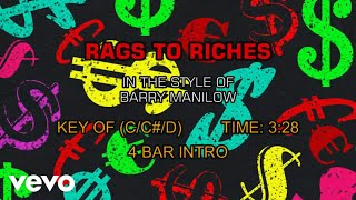 Barry Manilow - Rags To Riches (Karaoke)