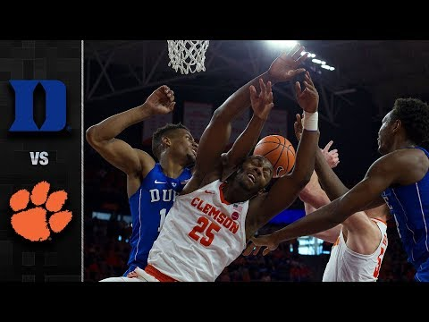 Duke vs. Clemson Basketball Highlights (2017-18)