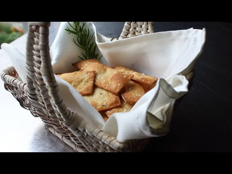 Fancy Crackers – How to Make Flatbread-Style Crackers – Rosemary Sea Salt Cracker Recipe