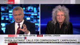 MORE ON THIS DAY 23 APRIL BRIAN MAY 2015 talking Common Decency