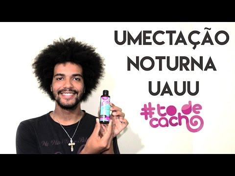 UMECTAÇÃO NOTURNA #TODECACHO UAUUU ÓLEO DE RICINO CRESPO CACHEADO