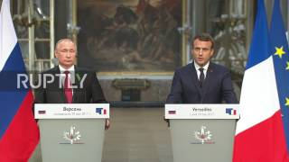 French: Macron says he spoke to Putin on protection of Chechnya