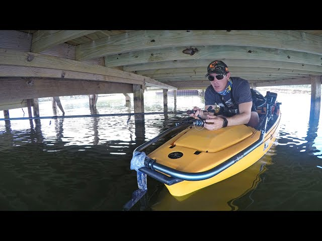 Fishing UNDER Boat Docks for Bass Using a Kayak
