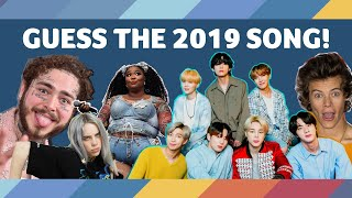 GUESS THE SONG from 2019 - Top Songs of 2019 Quiz