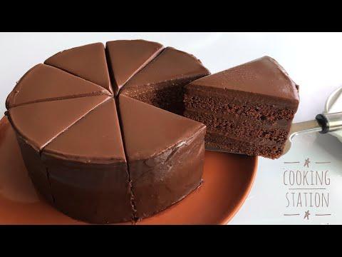 SUPER AMAZING  MOIST CHOCOLATE CAKE RECIPE   เค้กช็อกโกแลตหน้านิ่ม สูตรหน้านิ่ม วิธีราดหน้านิ่มง่ายๆ