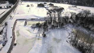 DJI Drone Flight  After Winter Storm Jonas Northern Virginia