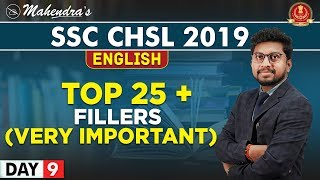 Top 25 + Fillers | English | By Amit Mahendras | SSC CHSL 2019 | 3:15 pm