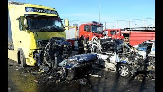 Самые жесткие аварии большегрузов 2018