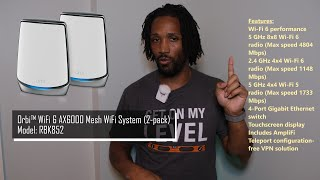 Netgear Orbi AX6000 WiFi 6 Mesh System  - Reliable High Speed Internet for all your devices in 2020