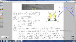 Geometry - Chapter 6 Review (Quadrilaterals)