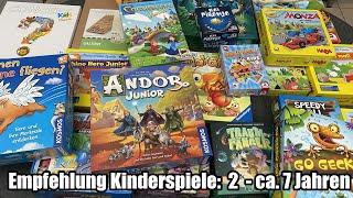 Empfehlung Kinderspiele 2 bis ca. 7 Jahren (Weihnachten, Geburtstag, etc.)