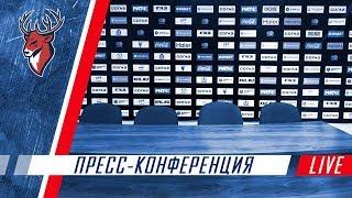 """Пресс-конференция после четвертого матча """"Торпедо"""" - """"Локомотив"""""""