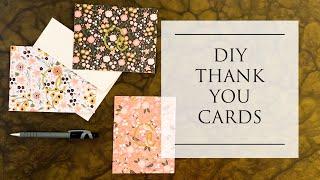DIY Thank You Cards for Bridal Shower, Engagement, Wedding