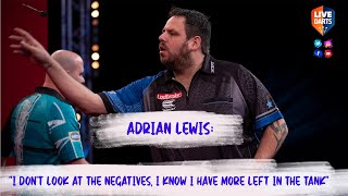"Adrian Lewis: ""I don't look at the negatives, I know I have more left in the tank"""
