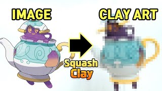 Pokémon Clay Art: Polteageist Ghost-type Pokémon!! [Satisfying Video]