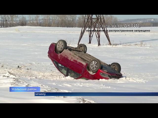 Автомобиль перевернулся под Ангарском