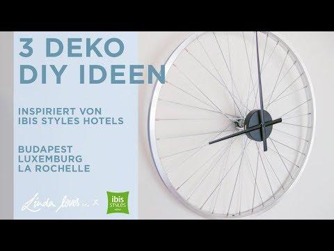 3 Upcycling DIY Ideen: Uhr aus Fahrradfelge, Lampen aus Hüten, Garderobe im Beach Look | Anleitung