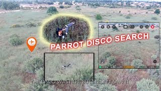 Searching for Parrot Disco with Parrot Bebop 2 Power