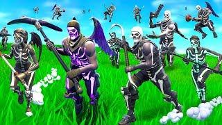 We made a Skull Trooper Horde In Fortnite