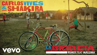 La Bicicleta (Remix - Audio) - Maluma (Video)