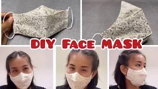 DIY Face Mask At Home | Free Pattern Download | วิธีทำหน้ากากอนามัย ทรงสวย โค้งรับจมูกพูดแล้วไม่หลุด