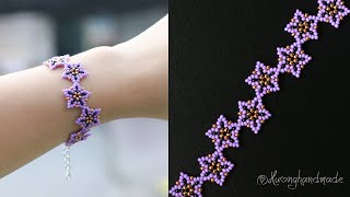 Lavender Bracelet Diy. How To Make Beaded Bracelet. Beading Tutorial
