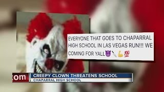 Creepy clown threatens Chaparral High School students on Facebook