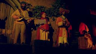 4K UHD Pirates of the Caribbean ride:  Yo Ho A Pirate's Life for Me scene detailed look Disney