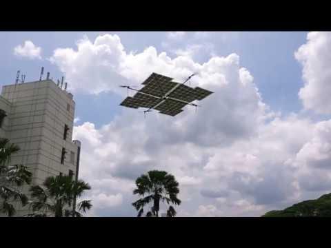 亚洲首个全太阳能四旋翼无人驾驶飞机